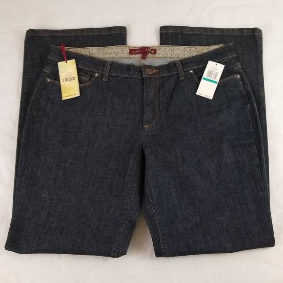 Izod Denim - IZOD Jeans Size 16 W37 L32 Favorite Flare Raw Wash